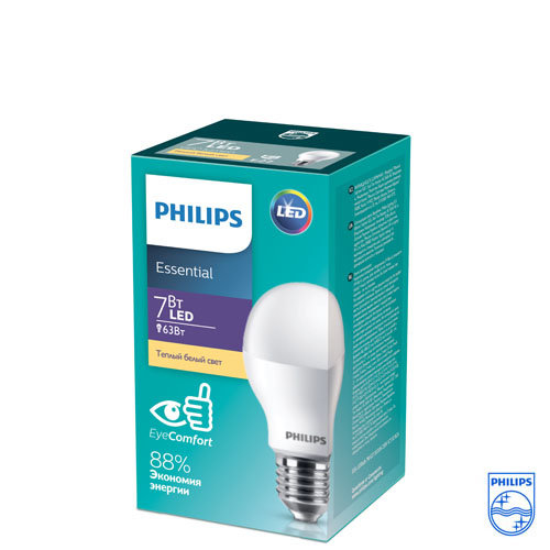 Лампа ESS LEDBulb 7W E27 3000K 230V 1CT (Philips)